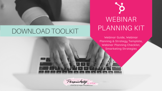 Persnickety In Pink HubSpot Webinar Planning Kit